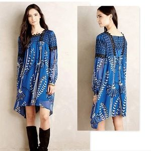 Anthropologie Floreat Liss Peasant Dress lace 8